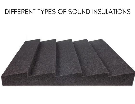 different types of sound insulation material